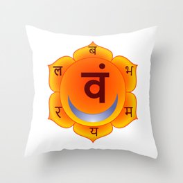 Svadhishthana Sacral Chakra Throw Pillow