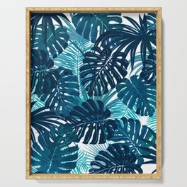 Navy Tropics Serving Tray