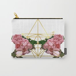 Geometric Peonies Carry-All Pouch