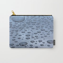 Rain Droplets Carry-All Pouch