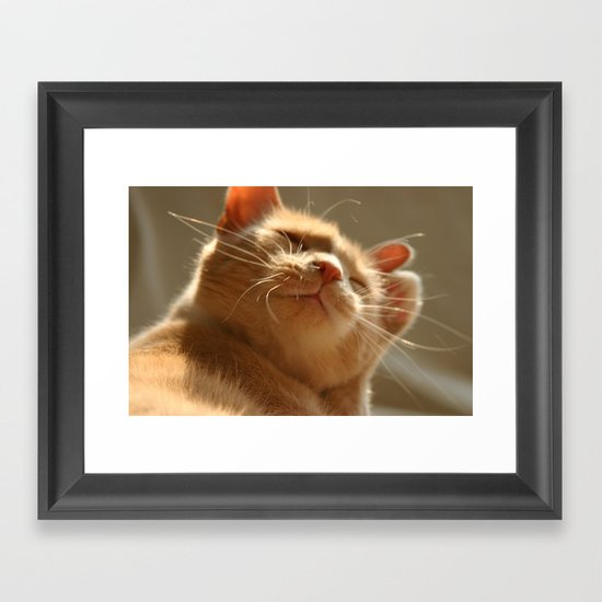 Content Framed Art Print
