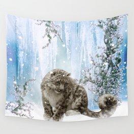Wonderful snowleopard Wall Tapestry