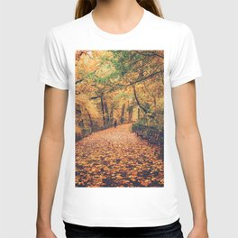 Autumn Walk New York City T-shirt