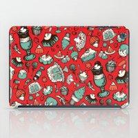 dessert iPad Cases featuring Dessert First! by Dawn Gonzales