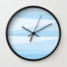 slants // blue Wall Clock