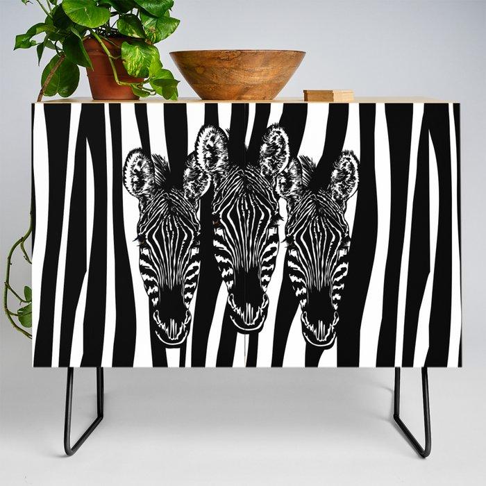 Zebra Modern Art Design Credenza