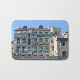 Typical building, Lisbon, Portugal Bath Mat