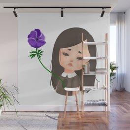 Forsaken - Girl with Anemone Flower Wall Mural