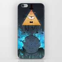 bill cipher iPhone & iPod Skins featuring Bill Cipher by Maplespyder