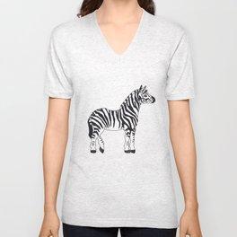 Zebra Stan Unisex V-Neck