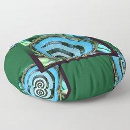 Paua Koru 2 Floor Pillow