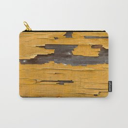 Urban Industrial Wood With Peeling Mustard-Color Paint Carry-All Pouch