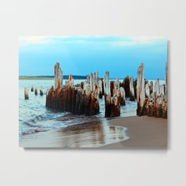 Beach Relics of a Time Gone By Metal Print