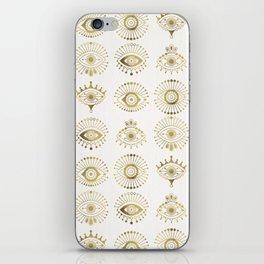 Evil Eyes – Gold Palette iPhone Skin