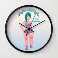 fierce Wall Clocks featuring Fierce by DP324