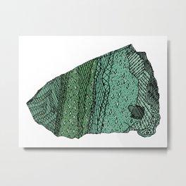 Fuchsitic Quartzite Metal Print