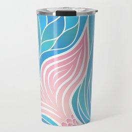 Pink Mermaid's Tail Travel Mug