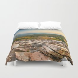 Spruce Knob Mountain Sunset Duvet Cover