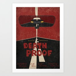 Death Proof Movie Poster Art Print
