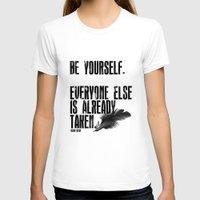 oscar wilde T-shirts featuring Oscar Wilde: Be Yourself by Danielle Denham