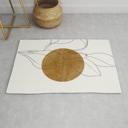 Line Art Home Plant Rug