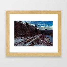 Alpine railway Framed Art Print