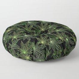Cannabis Leaf (Black Glow) - Camo Floor Pillow