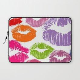 Colorful Lipstick Kisses Lip Color Laptop Sleeve