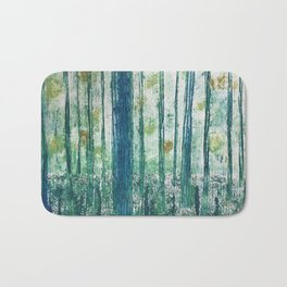 Collagraph print- enchanted forest Bath Mat