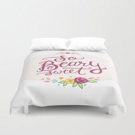 So Beary Sweet Hand Lettering Duvet Cover