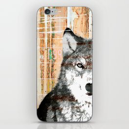 Industrial Woodland Wolf iPhone Skin