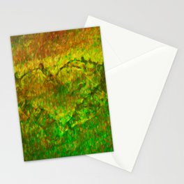 The Heart - Painting by Brian Vegas Stationery Cards