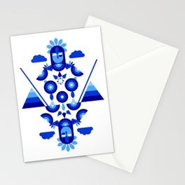 Libra in Blue Stationery Cards