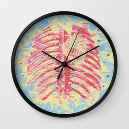 the fragility radiography Wall Clock