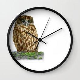 New Zealand Morepork Wall Clock
