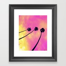 Pink Palm Trees Framed Art Print
