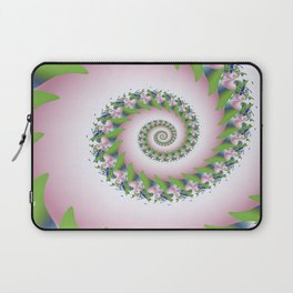 Pink Pearl Abstract Fractal Art Laptop Sleeve