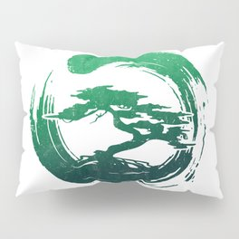 Green Bonsai in Enso Pillow Sham