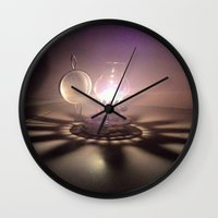 duvet cover Wall Clocks featuring LIGHT AND SHADOW DUVET COVER by aztosaha