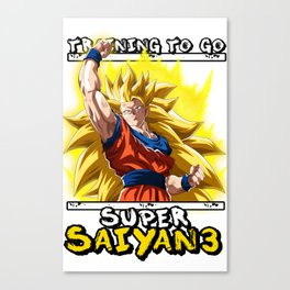 Training to go super saiyan 3 - Goku Canvas Print