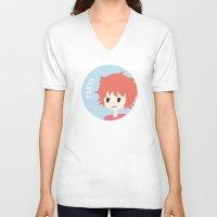 ponyo V-neck T-shirts featuring Ponyo by gaps81