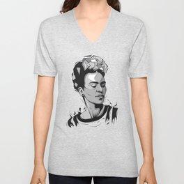 Frida Kahlo - Trinchera Creativa Unisex V-Neck