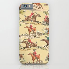 HORSE RIDING IN THE FIELD iPhone Case