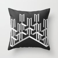 illusion Throw Pillows featuring Illusion by designpraxis