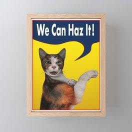 Cats Can Haz It! Framed Mini Art Print
