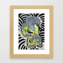 Japanese Baku Tattoo Framed Art Print