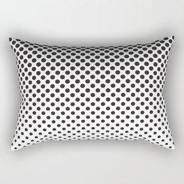 Halftone Black Dots Rectangular Pillow