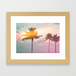 Palm Trees on the Beach Framed Art Print