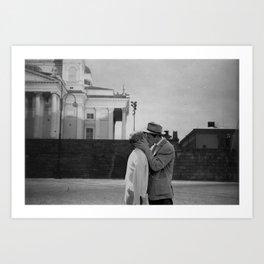 Collage Á bout de souffle (Breathless) - Jean-Luc Godard Art Print