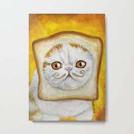 Snoopy aka Breadcat - Cats with Moustaches Metal Print